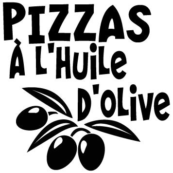 Sticker pizzas à l huile d'olive
