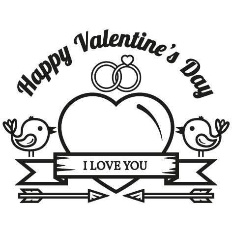 Achat Sticker saint valentin