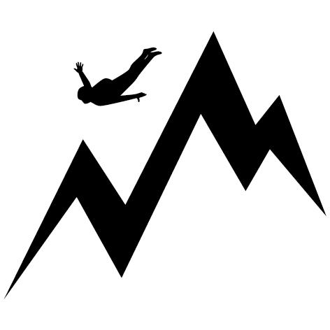 Sticker saut vol libre