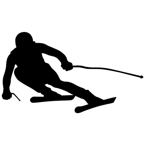 Sticker skieur - 01