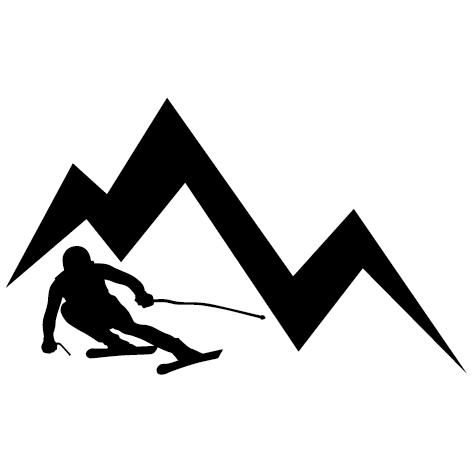 Achat Sticker skieur - 02