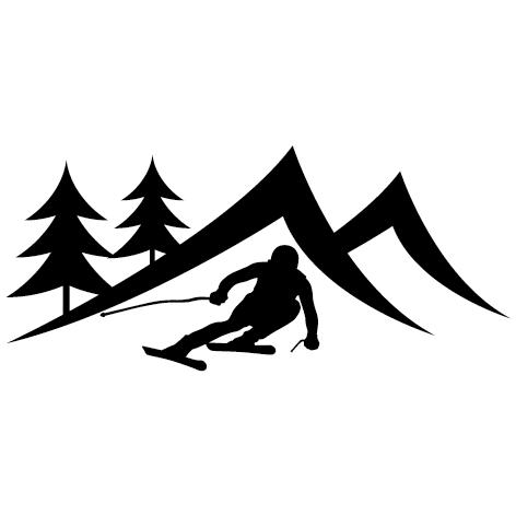 Achat Sticker skieur - 03