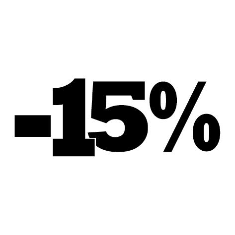 Sticker soldes été -15%