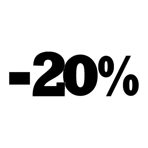 Sticker soldes été -20%