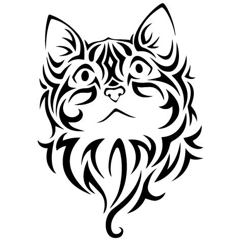 Achat Sticker tête de chat : 01