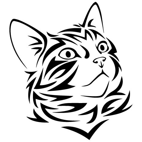 Sticker tête de chat : 02