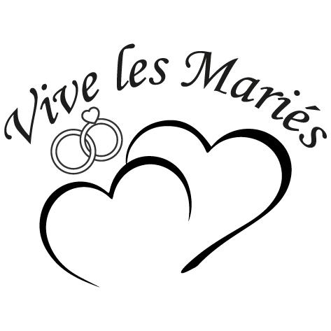 Sticker vive les mariés : DECOMP05