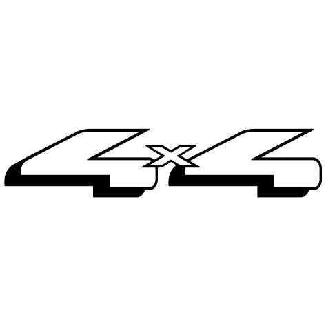 Sticker adhésif 4x4 : 05