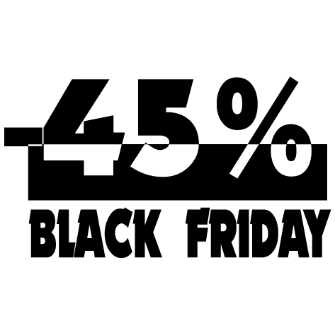 Black Friday -45%