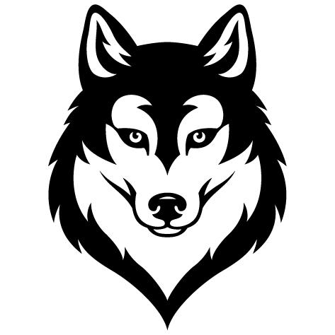 Sticker Husky Sibérien