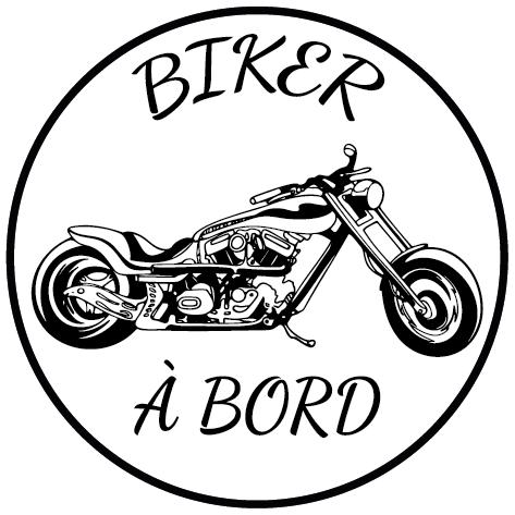 Sticker biker à bord
