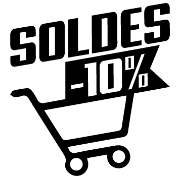 Stickers soldes chariot -10%