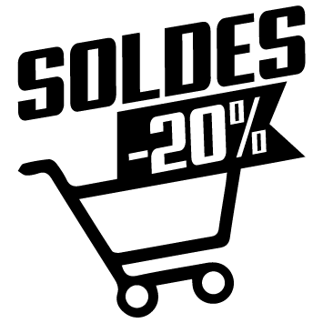 Stickers soldes chariot -20%