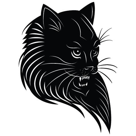 Sticker chat noir