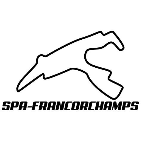 Sticker circuit Spa-Francorchamps
