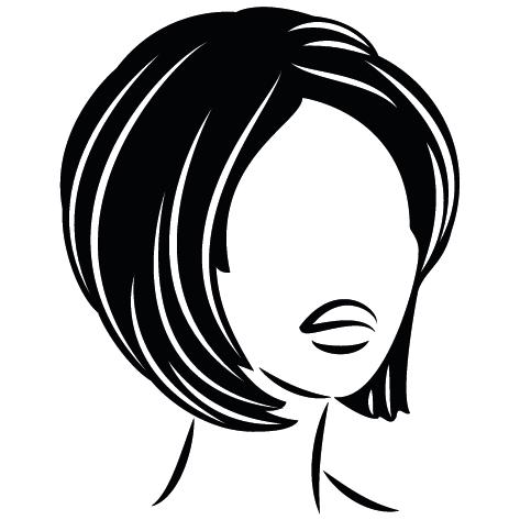 Sticker coiffure tête de Femme