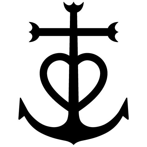 Sticker croix de Camargue