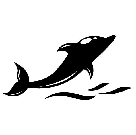 Sticker dauphin blanc