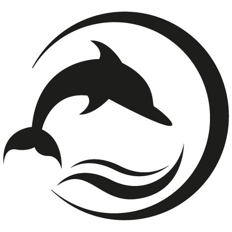 Sticker dauphin à long bec