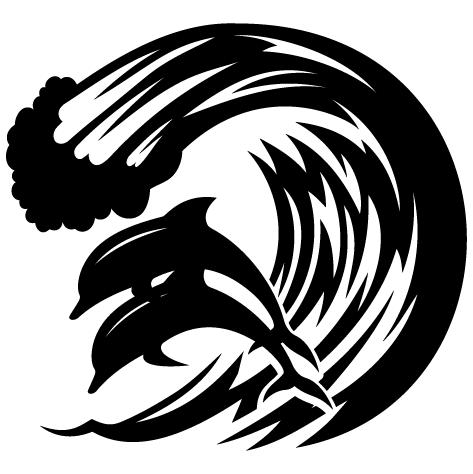 Sticker dauphins du pacifique