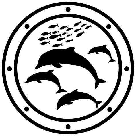 Sticker hublot dauphin