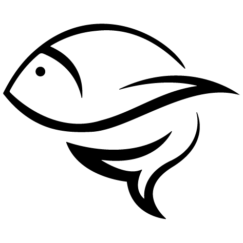 Sticker dessin poisson