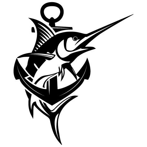 Sticker espadon ancre marine