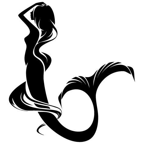 Sticker femme sirène