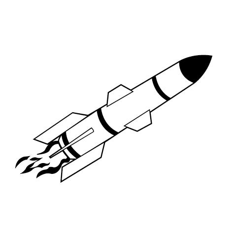 Sticker fusée : CDG002