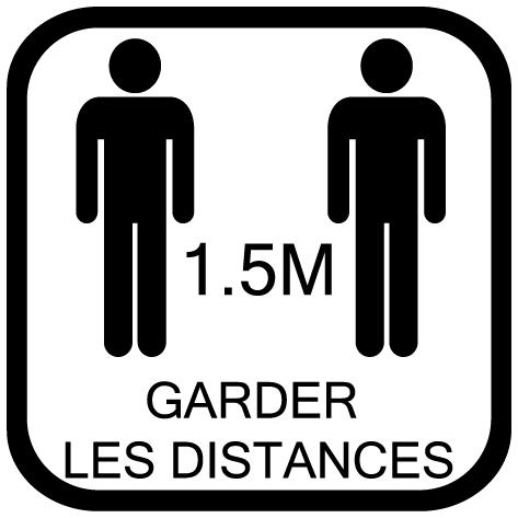 Sticker garder les distances 1.5m