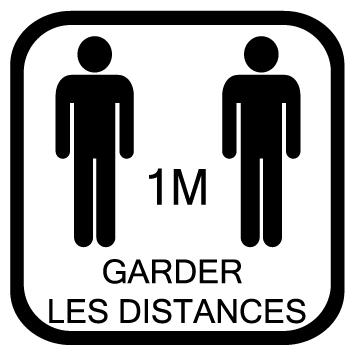 Sticker garder les distances 1m