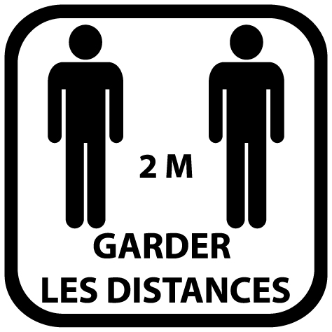 Sticker garder les distances 2m