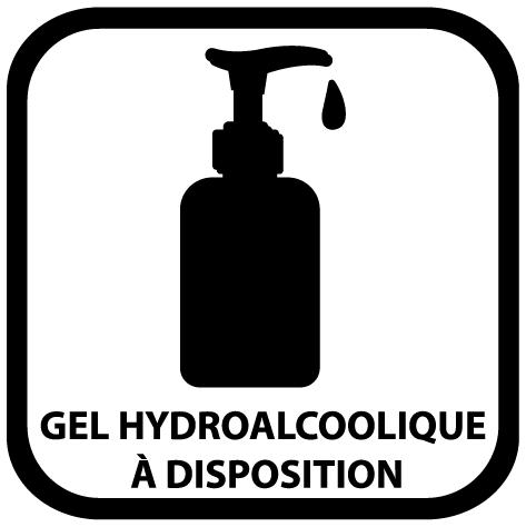 Sticker gel hydroalcoolique à disposition
