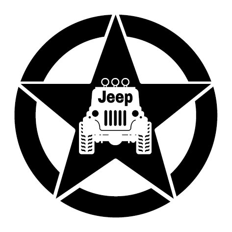 Sticker jeep armée