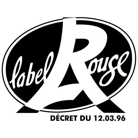 Autocollant label rouge