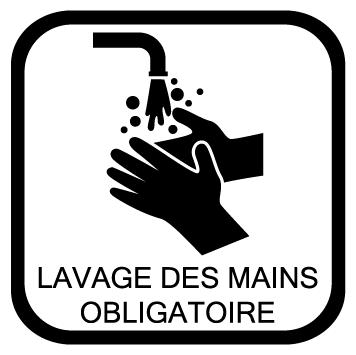 Sticker lavage des mains obligatoire