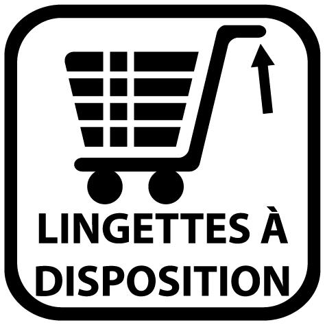 Sticker lingettes à disposition