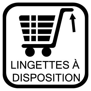 Sticker lingettes a disposition