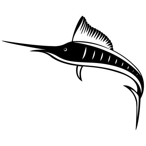 Sticker marlin bleu