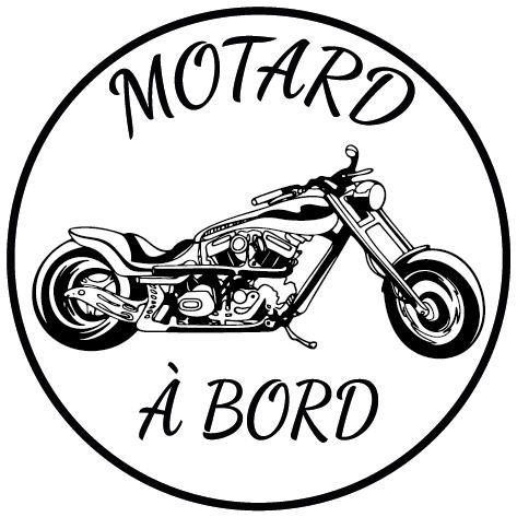 Sticker motard à bord