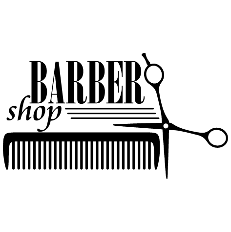Sticker peigne barbier
