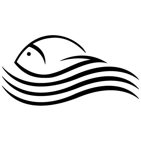 Poisson dans les vagues