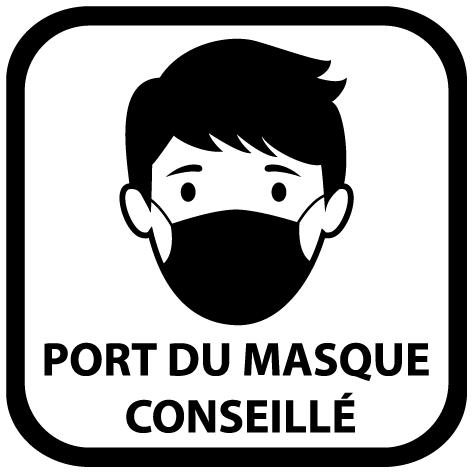 Sticker port du masque conseillé