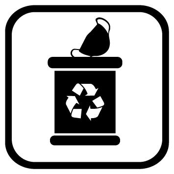 Sticker poubelle masques usagés