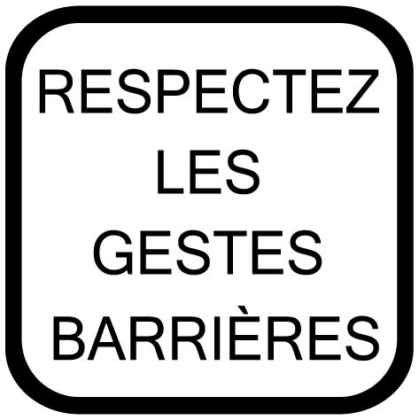 Sticker respecter les gestes barrières