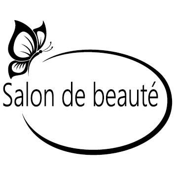 Sticker salon de beauté papillon