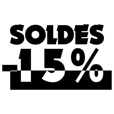 Chiffre soldes -15%
