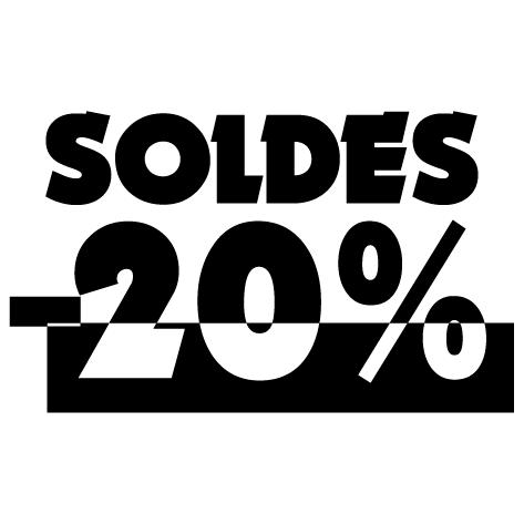 Chiffre soldes -20%