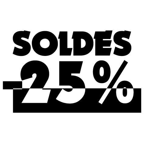 Chiffre soldes -25%