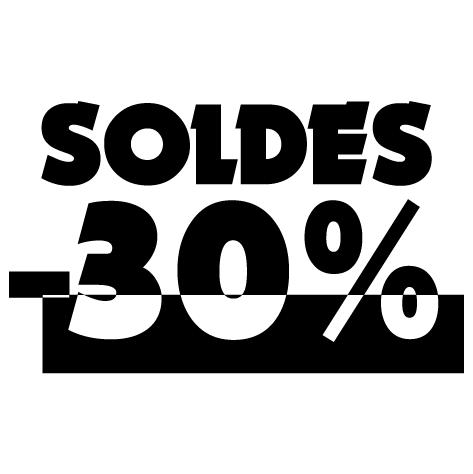Chiffre soldes -30%